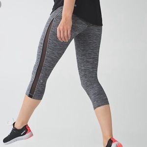 Lululemon Gather and Sprint Crop Dramatic Static Size 6
